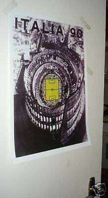 1990 Italy World Cup Official Poster REPRO
