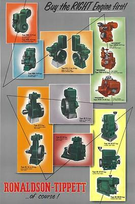 Ronaldson Tippett Buy the Right Engine First! poster colour reprint 50cm x 70 cm