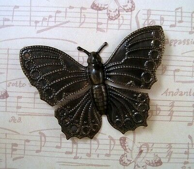Large Antiqued Brass Butterfly Stamping (1) - ANTS3320  Jewelry Finding