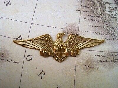 Large Raw Brass Americana Eagle Stamping (1) - S4063 Jewelry Finding