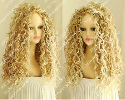 Fashion Wig New Long Sexy Women's Mix Blonde Cosplay Party Curly Natural Wigs
