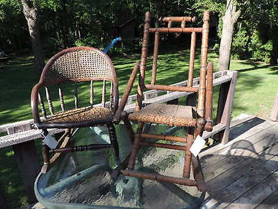 Antique/Vintage Child's Rocking Chairs. Very Old. (Lot of 2)