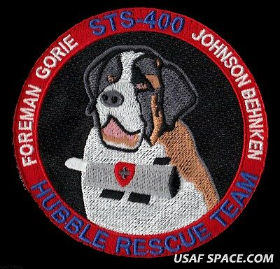 "HUBBLE RESCUE TEAM  STS-400 Mission NASA SPACE SHUTTLE  4"" Hook&loop PATCH"