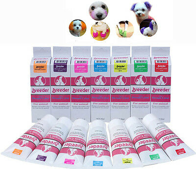 pet color dog hair dye 50g Harmless pet dye natural Dog Hair Color dog dye+gift