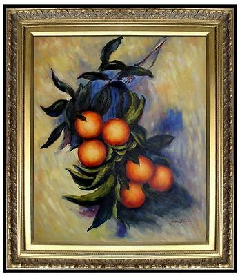 Framed Hand Painted Oil Painting Repro Claude Monet Orange Branch 20x24in