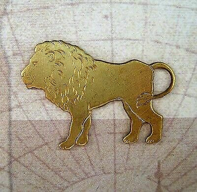 Large Solid Raw Brass Lion Stamping (1) - S5525