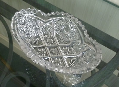 VINTAGE Pressed Glass Bowl IMPERIAL GLASS 1910-1920