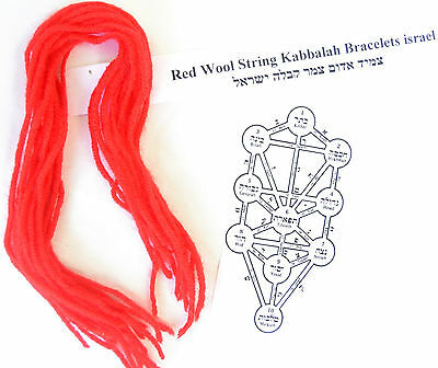 Lot 12+3 Red Wool String Kabbalah Bracelets against Evil Eye israel Blessed S10""