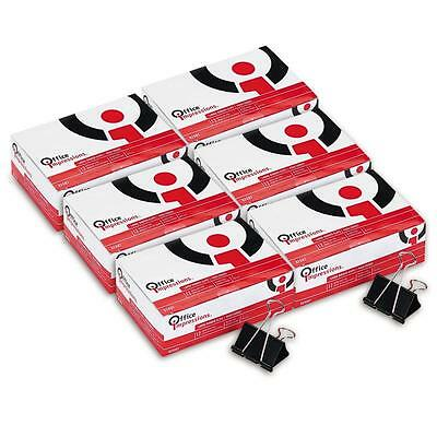 Office Impressions, Binder Clips, Large, 12 Per Box, 6 Boxes, 72 Total Clips