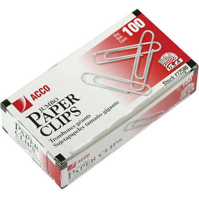 Office Impressions, Paper Clips, Jumbo, Smooth, 100 Count, 10 Pack, 1000 Total