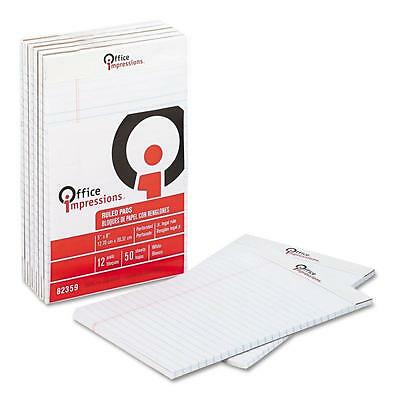 "Office Impressions, Perforated Pad, Legal Rule, 5"" X 8"", 50-Sheet Pads, 24-Pack"