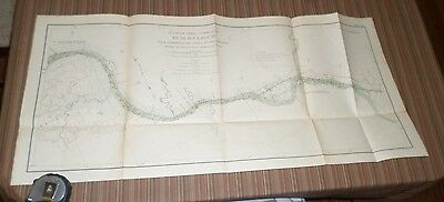 Large Lithograph Plate of the Panama Route (1899-1901)Isthmian Canal Comm #43