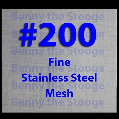 """Woven Wire Mesh Stainless Steel #200 Mesh 6""""x6"""" FREE INT SHIPPING  E-CIG'S"""