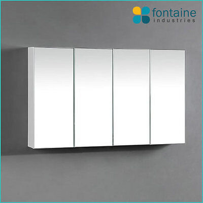 Bathroom Mirror Cabinet Medicine Shaving Storage 1000 x 600 NEW 4 Doors