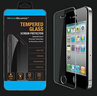 100x Wholesale Lot of 100 Tempered Glass Film Screen Protector for iPhone 4 4S