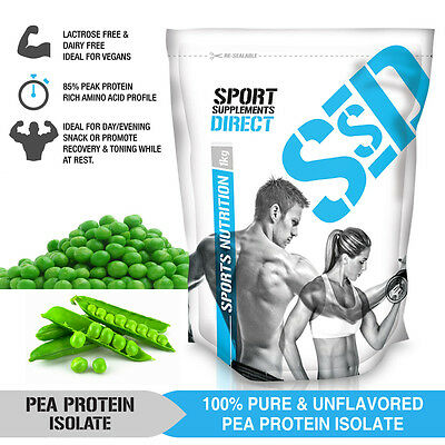 5Kg Pure Pea Protein Isolate - Unflavoured - Canadian Pea Protein 5 X 1Kg