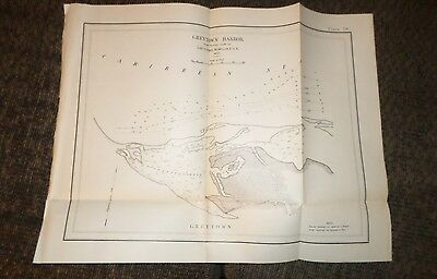 Large Map Plate of Greytown Harbor (1897-1901) Isthmian Canal Comm #58