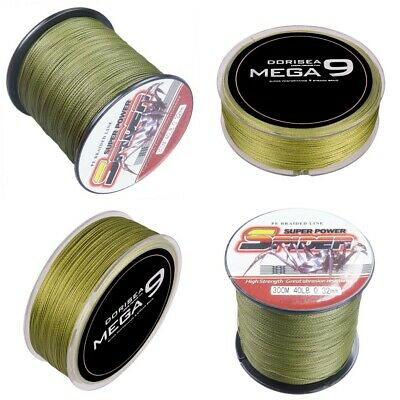 Spider Braid Dyneema 100M-2000M  10LB-300LB Fishing Braid Carp Line Army Green