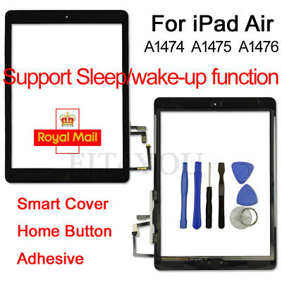 New Black For iPad 5 Air/Retina Replacement Digitizer Touch Screen Glass+ Button
