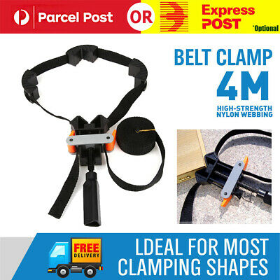 Rapid Clamp Woodworking Mirror Corner Vice Strap 4 Jaws Picture Frames Drawer AU