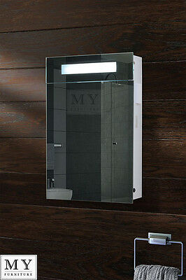 Illuminated Bathroom Mirror Cabinet / Shaver Socket / Sensor / Demister -Atomic