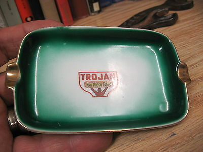 trojan northen bred seed co corn advertising ashtray PROMOTIONAL ADVERTISING