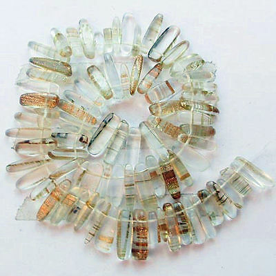 1Strand Gold Rutilated Quartz loose bead 15.5inch (Man-made) N6879