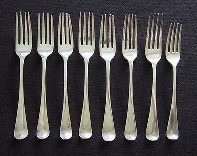 Antique ENGLISH STERLING FORKS - c1800-1820  (Hanoverian Pattern)         (AA30)