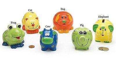 ~~ONE (1) ADORABLE BRIGHTLY COLORED MINI ANIMAL BANK BY BURTON~ IMMED SHIPPING!