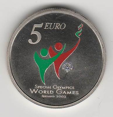 IRLANDE 2003 - 5 EURO couleur - Special Olympics / World Games / Dublin