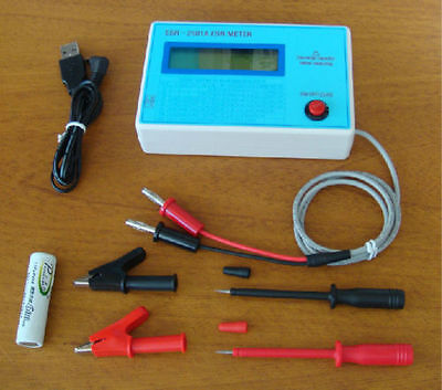 New Capacitor ESR DCR Tester IN Circuit Capacitance Meter