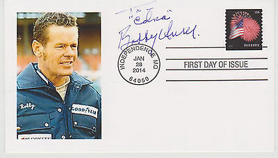 Signed Bobby Unser Fdc Autographed First Day Cover Indy 500