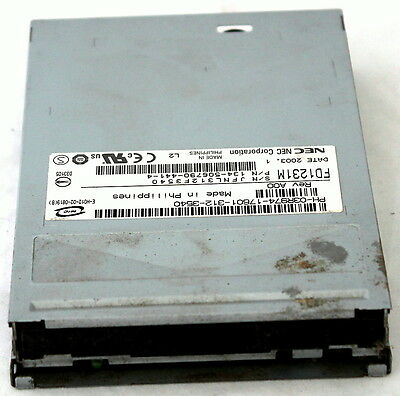 "Nec 1.44Mb Fdd 34-Pin Internal 3.5"" Floppy Drive Fd1231M P/n: 134-506790-441-4!!"