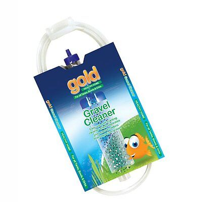 interpet gold small gravel cleaner syphon for small aquariums and orbs