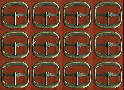 Vintage  144 (1 GROSS)  Antique Brass 23x24MM Rectangle Buckles AR4