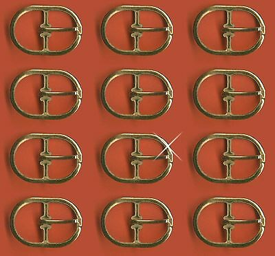 Vintage 12 Gold Plated Oval Frame 30x24mm Buckles M1R