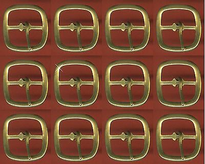 Vintage 144 (1 GROSS) Brass Fancy 21x21MM Buckles FL3