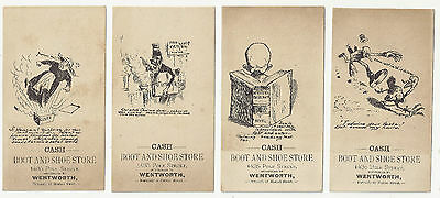 6 Trade Cards Boot and Shoe Store  1435 Polk Street San Francisco, CA