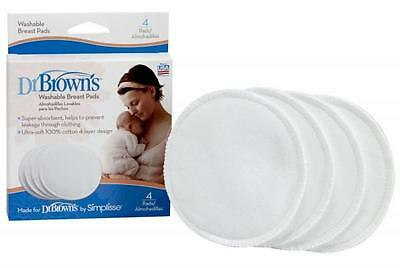 Dr Brown's Washable Breast Pads (4 Pads)