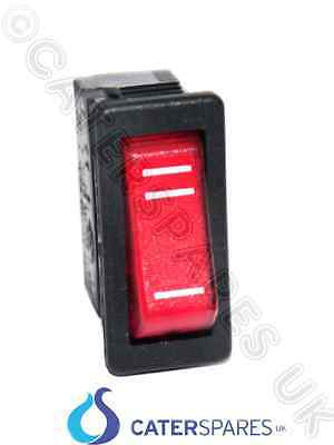 00032 Genuine Dualit 1 & 2 Slot Selector Switch 230 Volt 3 Pin Red Neon Rocker