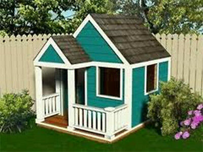 Simple Build Wooden Cubbyhouse Playhouse Plan 6x7.5