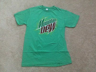 Mountain Dew Soda Fountain Drink Dew the Dew Vintage Classic Fun T Shirt Large