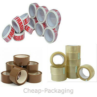 CLEAR/ BROWN/ FRAGILE  PACKING PARCEL TAPE 44mm X 50M MULTILISTING