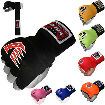 VELO Inner Hand Wraps Gloves Boxing Padded Fist Bandages MMA Gel Muay Thai Wrap