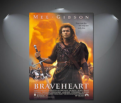 Braveheart Mel Gibson Vintage Movie Poster - A1, A2, A3, A4 Sizes