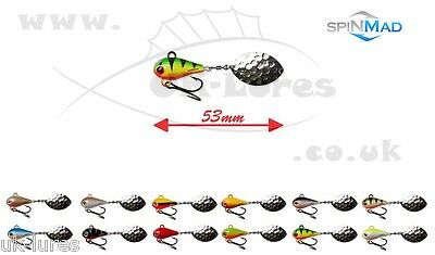 SpinMad TAIL SPINNER MAG 6g PERCH CHUB ZANDER BASS PIKE Predator Tackle UK-Lures