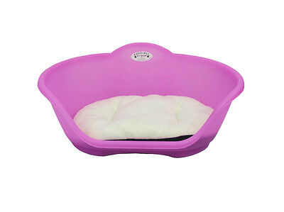Extra Large Plastic Pink With White Cushion Pet Bed  Dog/cat/animal/sleep/basket
