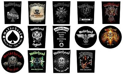 MOTORHEAD Sew On Back Patch/Patches NEW OFFICIAL. 14 designs to choose from