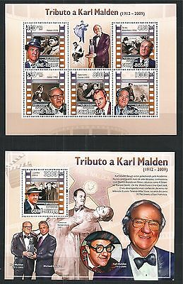 Guinea Guine Bissau 2009 Block Mini Sheet Set Karl Malden Film Cinema ** Mnh