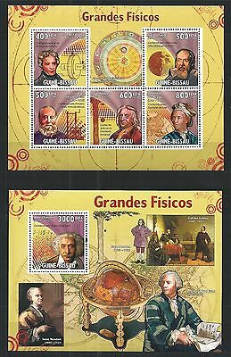 Guinea Guine Bissau 2009 Block Mini Sheet Set Famous Physicists Einstein **